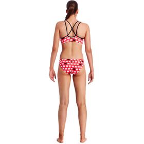 Funkita Bibi Banded Bikini Kobiety czerwony/biały